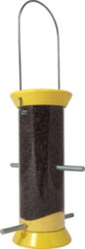 (Droll Yankees New Generation Finch Flocker Bird Feeder, 8 Inches, 4 Ports, Yellow)