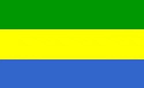 Gabon Flag 3ftx5ft Polyester