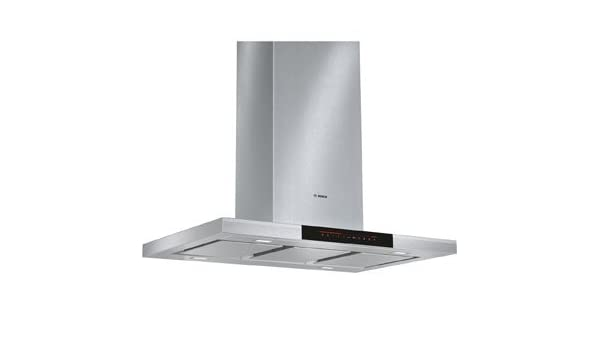 Bosch Serie 8 dib091 K50b 90 cm isla campana – Cristal Negro. Se da claramente vista a tu cocina y crear una luz ambiental en la cocina: Amazon.es: Grandes electrodomésticos