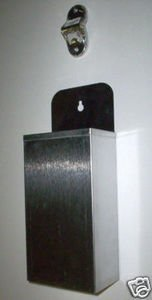 Stainless Steel Wall Mount Bottle Opener and Cap Catcher