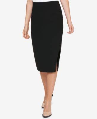 - DKNY Women's Crossover Front Knee-Length Pencil Skirt (Navy, 14)