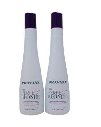 PRAVANA THE PERFECT BLONDE Purple Toning Shampoo and Conditioner DUO (10.1Oz each )