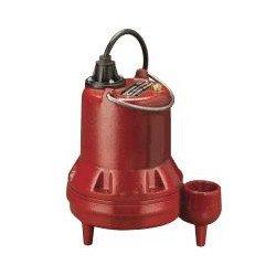 1/2 HP Manual Submersible Sewage Pump - 115v - 25 ft Cord - 2