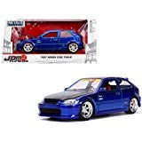 - New DIECAST Toys CAR JADA 1:24 W/B - Metals - JDM Tuners - 1997 Honda Civic EK Type-R (Blue) 30929