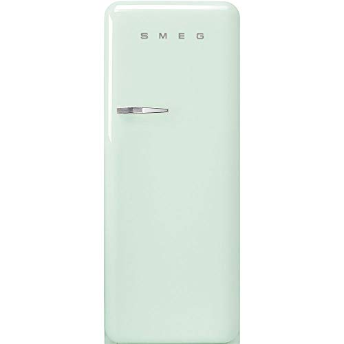 Smeg FAB28URPG3 50's Retro Style Aesthetic 24″ 50'S Style Refrigerator With Ice Compartment, Pastel Green, Right Hand Hinge