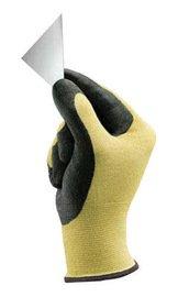 Kevlar Knit Shell Glove - Ansell Glove Cut Resistant Light Duty Size 10.0 Kevlar Shell Blackfoam Nitrile Palm Knit Wrist Hyflex 11-500 Ansi Cut Level 2 -1 Dozen Pairs