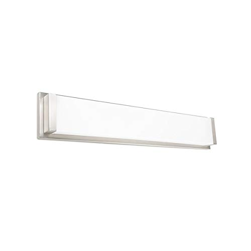 WAC Lighting WS-180127-30-CH Metro Energy Star LED Bathroom Vanity Wall Light, 27 Inches, Chrome