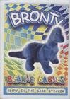 Bronty the Ty-Dye Brontosaurus (Trading Card) 1999 Ty Beanie Babies Series 4 - Glow in the Dark Sticker (Ty Beanie Babies Trading Cards)