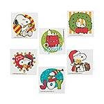 [Peanuts Christmas Tattoos ~ Snoopy with Woodstock in Holiday Poses (12 Temporary Tattoos)] (Temporary Christmas Tattoos)