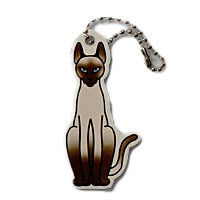 Sophie the Siamese Cat Travel Tag