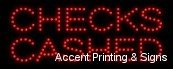 Sign Cashed Led Checks (Checks Cashed LED Sign (High Impact, Energy Efficient, Economically Priced))