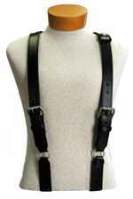 Boston Leather 9175 Leather Firefighter Suspenders