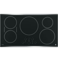 "GE Profile PHP9036SJSS 36"" Built-in Induction Cooktop with 5 Elements Digital Touch Controls Keep-Warm Setting and Kitchen Timer in Black with Stainless Steel"