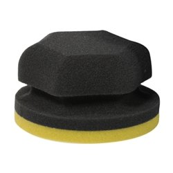 Adam's Yellow Waxing Hex Grip Applicator - Ultra Soft, Ergonomically Designed - Perfect For Applying Any Car Wax, Glaze, or Sealant