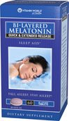 Vitamin World Bi-Layered Melatonin 5 mg.Sleep Aid 60 Bi-Layered Tablets