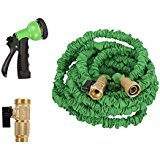Easeetop 100ft Garden Hose Strongest Magic Expandable Water Hose New Durable Double Layer Latex Extra Strength Fabric 3/4 USA Standard With 8 Function Spray Nozzle