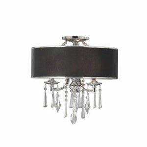 (Golden Lighting 8981SFGRM Convertible Semi Flush Mount with Black Tuxedo Shades, Chrome Finish by Golden Lighting)