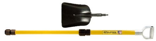 Inteletool Telescopic Steel Scoop Shovel with D Grip 2 to 4 foot by Inteletool