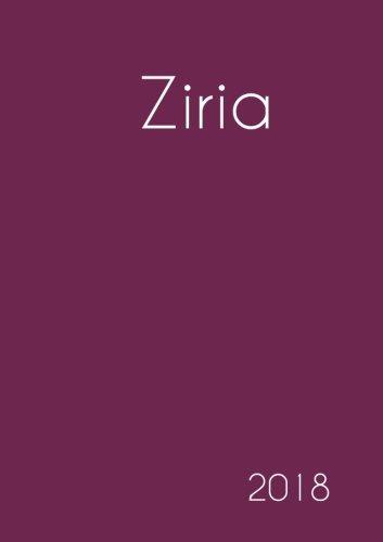2018: Namenskalender 2018 - Ziria - DIN A5 - eine Woche pro Doppelseite (German Edition) ebook