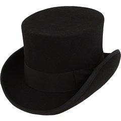 Amazon.com  Wool Felt Top Hat in Black Size  8-12 Years  Baby 5b1400c06ea
