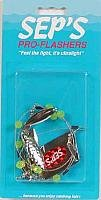 Sep's Pro Fishing Willow Leaf Flasher, Silver/Green