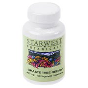 Chaste Tree Berry 400mg Organic - Vitex agnus castus, 100 caps,