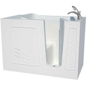 Spa World Venzi Vzb3053rws Artisan Rectangular Walk-In Bathtub, 30x53, Right Drain, White