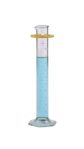 Kimax Class A Graduated Cylinders Reverse Metric Scales with Pour Spout, 50mL Capacity (Case of 6) (Kimax Scale Metric Reverse)