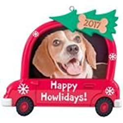 Hallmark Keepsake - Happy Howlidays! Dog Picture Frame Dated Christmas Ornament