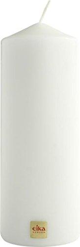 EIKA 125 228 21 Stumpenkerze 215/80 weiß in Cellophan