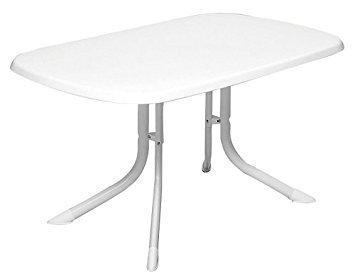Tavolo Pieghevole Bianco : Mwh tavolo pieghevole bianco cm amazon