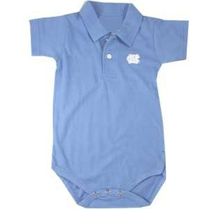 North Carolina Tar Heels Baby Golf Shirt Onesie (6 months)