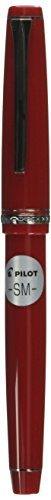 Pilot Falcon Collection Fountain Pen, Red with Rhodium Accents, Blue Ink, Soft Medium Nib (71622)