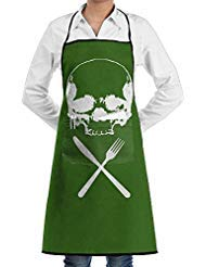 Bigkhhk Men&Women HALLOWEEN Food Horror Recipe Adjustable Straps Kitchen Apron Chef Bib Apron With Pockets Idea For Cooking,Crafting,Gardening,BBQ ()