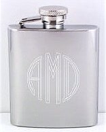 Circle Monogrammed Hip Flask - Groomsman Gift Idea by Personalizedegifts