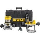 DEWALT DW616PKV 1-3/4 HP Fixed Base / Plunge Router Combo Kit
