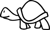 Turtle Tortoise Outline Decal Vinyl Sticker|Cars Trucks Vans Walls Laptop|BLACK |5.5 - Tortoise Outline