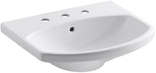 - KOHLER K-2363-8-0 Cimarron Bathroom Sink Basin, White