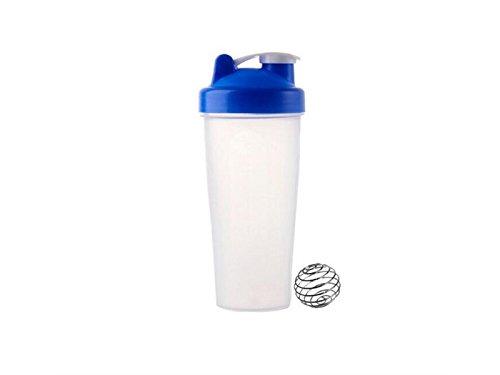 Portatile Sport Bottiglia d'acqua Ciclismo Escursionismo Bottiglia d'acqua Tazza di plastica Bevande Bottiglia per esterno e campeggio (blu) per viaggiare Rosetreee