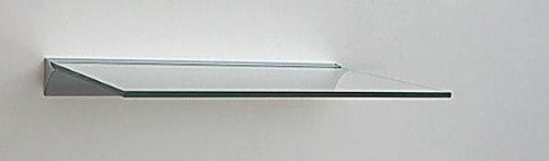 Glasregal 50x20 cm /8mm Klarglas Wandprofil LINO8 Alu silber / Glasablage
