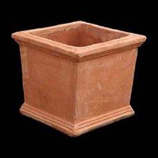 Klassischen 'lyttos' Design Kretische handgefertigte Terracotta Topf/klein Plantar–Geometrie–34(H) X 37X 37CM
