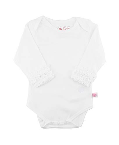 - RuffleButts Baby/Toddler Girls Girl White Long Sleeve Undershirt One Piece - 3-6m