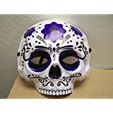 Dia de Los Muertos Day of The Dead Sugar Skull Halloween Mask - Dark Purple