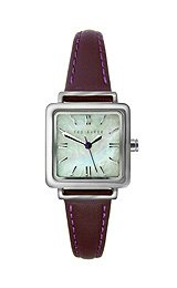 Ted Baker Three Hand Purple Leather Women's watch #TE2031