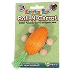 Ware Mfg. Inc. Bird - sm An 17003 Ware Mfg. Inc. Bird - sm An-Roll-n-carrot Small Animal Chew- Orange 4.5 Inch
