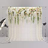 Wedding Floral Photo Backdrops Bridal Shower Background Party Prom Ball Blossom Decoration Studio Ladies Photography Props White Green Flower FT6749 -