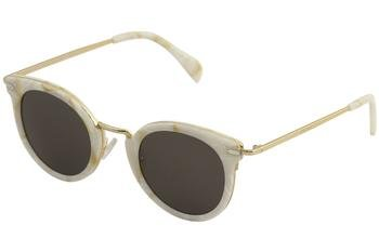 Celine 41373 /S 023F White Gold / NR brown gray lens - Celine White Sunglasses