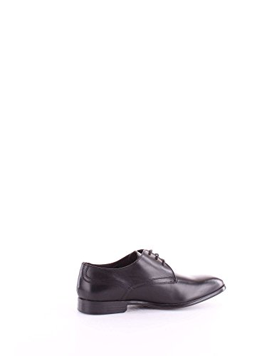 Base London Mens Page Waxy Leather Smart Formal Derby Shoes Black