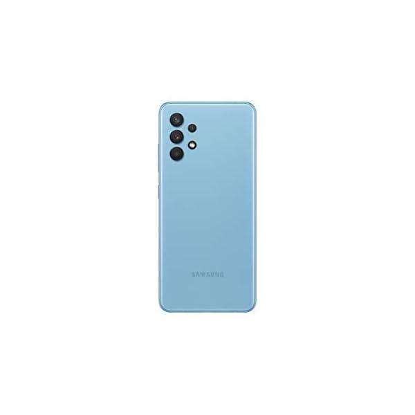 Samsung Galaxy A32 Color Azul   Smartphone 6.4″ FHD+ s-AMOLED con Android 11   4 + 128GB de Memoria   Quad-cámara 64MP y Frontal de 20MP   5.000 mAh y Carga rápida 15W   [Versión española]