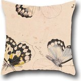 - 18 X 18 Inches / 45 By 45 Cm Oil Painting Arthur Bartholomew - Wood White Butterfly, Delias Aganippe Cushion Covers,2 Sides Is Fit For Teens,home Theater,living Room,gf,home,office